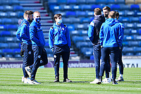 Rochdale players inspect the pitch before kick off during Portsmouth vs Rochdale, Sky Bet EFL League 1 Football at Fratton Park on 2nd April 2021