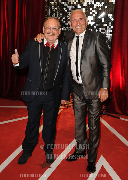 Bobby Ball, and Tommy Cannon arriving for the British Soap Awards 2013, at Media City, Manchester. 18/05/2013 Picture by: Steve Vas / Featureflash