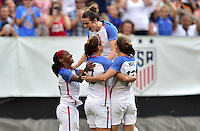 Cleveland, Ohio - June 5, 2016: The USWNT go up 2-0 over Japan from a goal by Alex Morgan in second half play during in an international friendly at FirstEnergy Stadium.