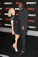 """Gabby Allen and Marcel Somerville<br /> arriving for the """"Bright"""" European premiere at the BFI South Bank, London<br /> <br /> <br /> ©Ash Knotek  D3364  15/12/2017"""