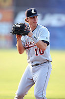 Connecticut Tigers third baseman Josh Ashenbrenner (10) during a game vs. the Batavia Muckdogs at Dwyer Stadium in Batavia, New York July 8, 2010.   Connecticut defeated Batavia 4-2 in extra innings.  Photo By Mike Janes/Four Seam Images