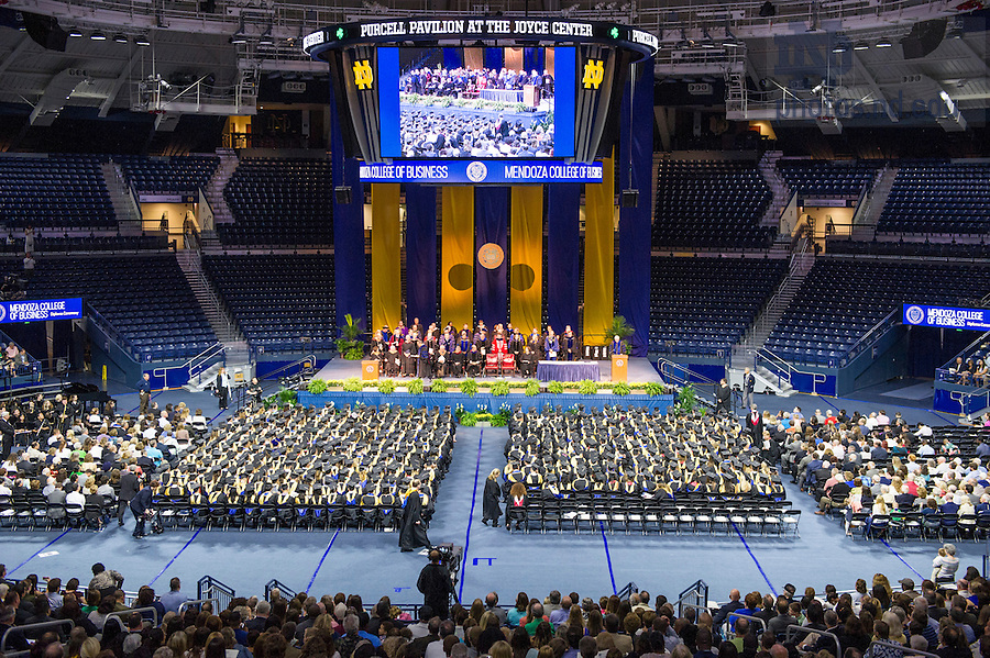 May 16, 2015; The Mendoza College of Business Graduate Business Diploma Ceremony at the Purcell Pavilion. Photo by Barbara Johnston/University of Notre Dame