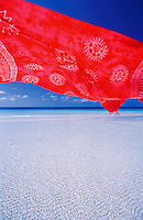 A sarong is lowing in the wind on Boracay beach, Philippines