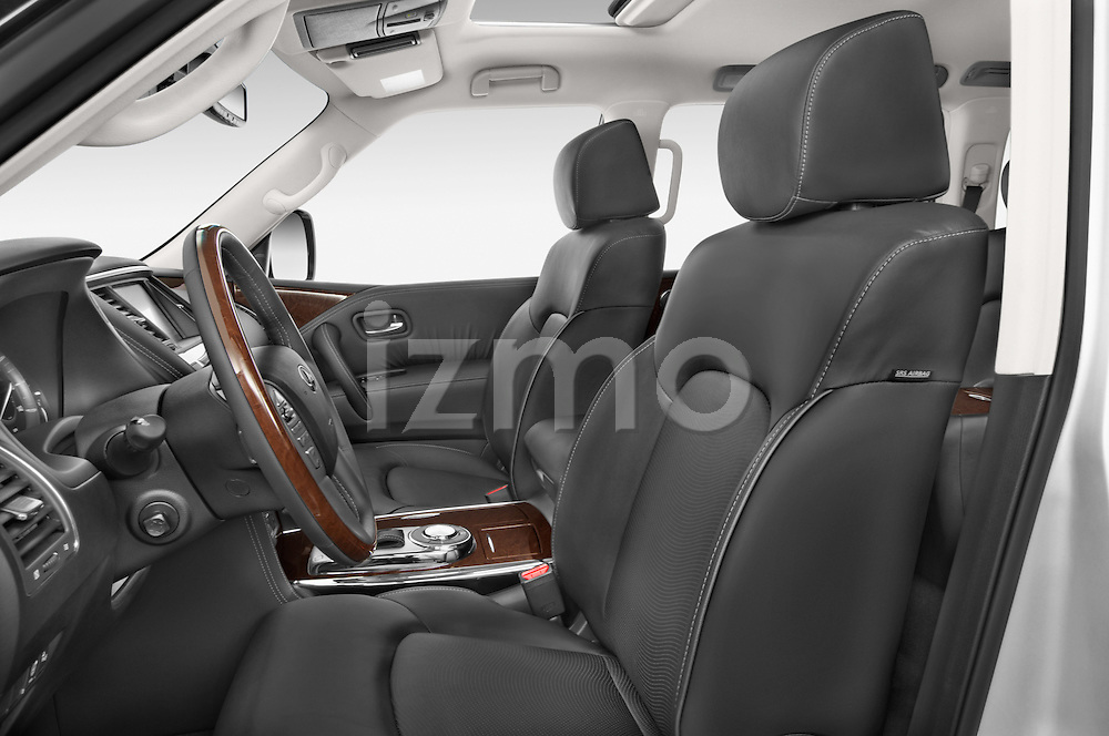 Front seat view of a 2017 Infiniti QX80 3.5 5 Door SUV Front Seat car photos