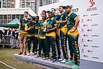 Players  of South Africa celebrate winning the champion at the Hong Kong Cricket World Sixes 2017 Award Presentation at Kowloon Cricket Club on 29 October 2017, in Hong Kong, China. Photo by Yu Chun Christopher Wong / Power Sport Images
