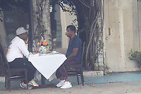 Baby Face Spotted Having Lunch In Beverly Hills