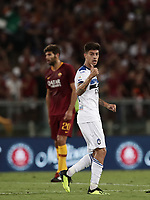 Calcio, Serie A: Roma - Atalanta, Stadio Olimpico, 27 agosto, 2018.<br /> Atalanta's Emiliano Rigoni celebrates after scoring during the Italian Serie A football match between Roma and Atalanta at Roma's Stadio Olimpico, August 27, 2018.<br /> UPDATE IMAGES PRESS/Isabella Bonotto
