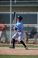 Tampa Bay Rays Miles Mastrobuoni (10) during a minor league Spring Training game against the Baltimore Orioles on March 29, 2017 at the Buck O'Neil Baseball Complex in Sarasota, Florida.  (Mike Janes/Four Seam Images)