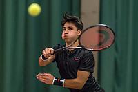 Wateringen, The Netherlands, March 16, 2018,  De Rhijenhof , NOJK 14/18 years, Nat. Junior Tennis Champ.  Sidane Pontjodikromo (NED)<br />  Photo: www.tennisimages.com/Henk Koster