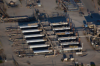 aerial photograph of  oil storage tanks in the San Ardo Oil Field, Monterey County, California