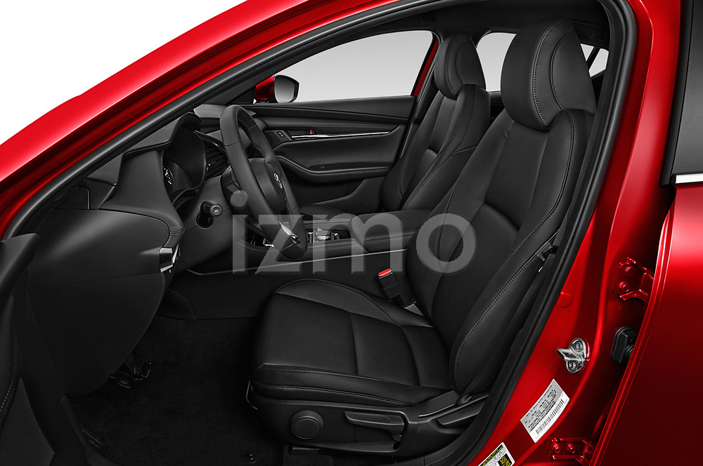 Front seat view of a 2019 Mazda Mazda-3 Style 5 Door Hatchback front seat car photos
