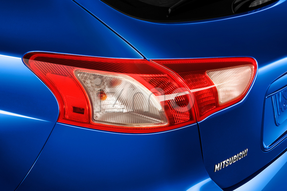 Tail light close up detail view of a 2010 Mitsubishi Lancer Sportback