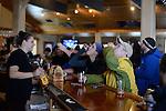 Lou Apololo and Ellen ?<br /> apres ski at the Trapp Bar