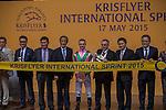 MAY 17 ,2015: Aerovelocity,ridden by Zac Parton,wins the KrisFlyer International Sprint at Kranji in Kranji,Singapore. Kazushi Ishida/ESW/CSM