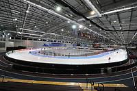 SCHAATSEN: SALT LAKE CITY: Utah Olympic Oval, 14-11-2013, Essent ISU World Cup, training, overzicht ijsbaan, ©foto Martin de Jong