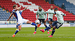 03.10.20 - Blackburn Rovers v Cardiff City - Sky Bet Championship - Junior Hoilett of Cardiff has his shot blocked by Lewis Holtby of Blackburn Rovers