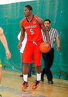 April 10, 2011 - Hampton, VA. USA;  Arnaud Adala Moto participates in the 2011 Elite Youth Basketball League at the Boo Williams Sports Complex. Photo/Andrew Shurtleff