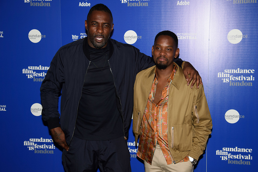 """Idris Elba and Aml Ameen<br /> at the """"Yardie"""" premiere as part of the Sundance London Festival 2018, Picturehouse Central, London<br /> <br /> ©Ash Knotek  D3404  01/06/2018"""