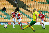 13th February 2021; Carrow Road, Norwich, Norfolk, England, English Football League Championship Football, Norwich versus Stoke City; Teemu Pukki of Norwich City shoots and scores from the penalty spot for 4-1 in the 80th minute