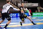 Kai Haefner (Deutschland #25) ; Martin Johannson (Estland #11) ; EHF EURO-Qualifikation / EM-Qualifikation / Handball-Laenderspiel: Deutschland - Estland am 02.05.2021 in Stuttgart (PORSCHE Arena), Baden-Wuerttemberg, Deutschland.<br /> <br /> Foto © PIX-Sportfotos *** Foto ist honorarpflichtig! *** Auf Anfrage in hoeherer Qualitaet/Aufloesung. Belegexemplar erbeten. Veroeffentlichung ausschliesslich fuer journalistisch-publizistische Zwecke. For editorial use only.
