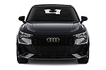 Car photography straight front view of a 2020 Audi Q3-Sportsback S-Line 5 Door SUV Front View