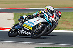FIM CEV REPSOL in Navarra during the Spanish Championship 2014.<br /> Los Arcos, navarra, spain<br /> September 06, 2014. <br /> Moto3<br /> takuma kunimine<br /> tatsuki suzuki<br /> PHOTOCALL3000/ RME