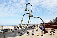 Nederland Scheveningen  2017 . SprookjesBeelden aan Zee op de Boulevard in Scheveningen. De Haringeter. Foto Berlinda van Dam / Hollandse Hoogte