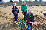 Mary Claire, Patrick and Jack Griffin from Ardfert enjoying a stroll in Banna beach on New Years Day.