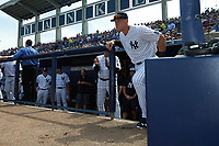 New York Yankees right fielder Aaron Judge (99) is introduced before a Spring Training game against the Detroit Tigers on March 2, 2016 at George M. Steinbrenner Field in Tampa, Florida.  New York defeated Detroit 10-9.  (Mike Janes/Four Seam Images)