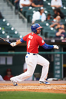 Buffalo Bisons shortstop Jio Mier (4) at bat during a game against the Louisville Bats on June 20, 2016 at Coca-Cola Field in Buffalo, New York.  Louisville defeated Buffalo 4-1.  (Mike Janes/Four Seam Images)