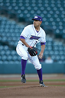 Winston-Salem Dash starting pitcher Cristian Castillo (29) in action against the Frederick Keys at BB&T Ballpark on April 26, 2019 in Winston-Salem, North Carolina. The Keys defeated the Warthogs 7-0. (Brian Westerholt/Four Seam Images)