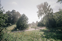 race leaders moving through the dust<br /> <br /> 92nd Schaal Sels 2017 <br /> 1 Day Race: Merksem > Merksem (188km)