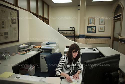 Scranton, Pennsylvania.July 30, 2012..Stephanie Davis, assistant to the mayor, City Hall...Photograph by Alan Chin.