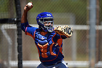 New York Mets catcher Adrian Abreu (82) during practice before a minor league spring training game against the Miami Marlins on March 30, 2015 at the Roger Dean Complex in Jupiter, Florida.  (Mike Janes/Four Seam Images)