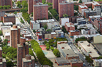 aerial photograph Harlem, Manhattan, New York City