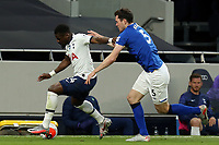 Serge Aurier of Tottenham Hotspur and Michael Keane of Everton during Tottenham Hotspur vs Everton, Premier League Football at Tottenham Hotspur Stadium on 6th July 2020