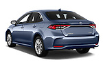 Car pictures of rear three quarter view of a 2019 Toyota Corolla Dynamic 4 Door Sedan angular rear