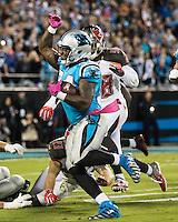 Charlotte, NC - October 10, 2016: The Carolina Panthers play the Tampa Bay Buccaneers at Bank of America Stadium.  Final score Tampa Bay 17, Carolina 14.