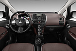 Stock photo of straight dashboard view of 2017 Mitsubishi iMiEV 5 Door Micro Car Dashboard