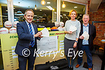 Walsh's SuperValu in Cahersiveen are in Christmas mode giving all eleven Primary Schools in South Kerry a €500 cheque and sporting equipment, pictured here l-r; Seamus Kerrisk(Store Manager), Siobhan & Dermot Walsh. <br /> The Schools benefiting are Scoil Bhreanain, Scoil Naomh Michil, Cillín Liath NS, St Finnians NS, Filemore NS, Aghatubrid NS, Scoil Saidhbhín, Caherdaniel NS, Scoil Naomh Dar Earca, Coars NS & Scoil an Ghleanna.