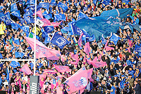 Leinster and Stade Francais fans enjoy the pre-match atmosphere before the Amlin Challenge Cup Final between Leinster Rugby and Stade Francais at the RDS Arena, Dublin on Friday 17th May 2013 (Photo by Rob Munro).