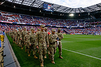Harrison, NJ - Friday Sept. 01, 2017: US Military prior to a 2017 FIFA World Cup Qualifier between the United States (USA) and Costa Rica (CRC) at Red Bull Arena.