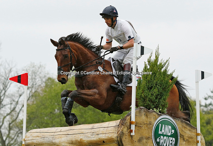 April 24, 2021: #50 Superstition and rider Harry Meade in the Cross Country test at the Land Rover Three Day Event at the Kentucky Horse Park in Lexington, KY on April 24, 2021.  Candice Chavez/ESW/CSM