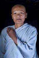 Nuns at Phnom Anduk, Vipassana Center.