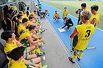 GER - Mannheim, Germany, May 20: During the U16 Boys test match between Germany (black) and Australia (yellow) on May 20, 2015 at Mannheimer HC in Mannheim, Germany. Final score 0-1. (Photo by Dirk Markgraf / www.265-images.com) *** Local caption ***