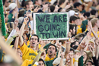 Baylor fans cheer for their team during an NCAA football game, Saturday, December 06, 2014 in Waco, Tex. Baylor defeated Kansas State 38-27. (Mo Khursheed/TFV Media via AP Images)