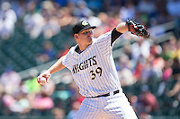 Charlotte Knights starting pitcher Erik Johnson (39) in action against the Indianapolis Indians at BB&T BallPark on June 21, 2015 in Charlotte, North Carolina.  The Knights defeated the Indians 13-1.  (Brian Westerholt/Four Seam Images)