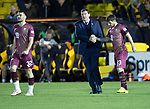 Livingston v St Johnstone…31.10.18…   Tony Macaroni Arena    SPFL<br />Goalscorer Matty Kennedy gets a well done from manager Tommy Wright at full time<br />Picture by Graeme Hart. <br />Copyright Perthshire Picture Agency<br />Tel: 01738 623350  Mobile: 07990 594431