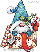 CHRISTMAS ANIMALS, WEIHNACHTEN TIERE, NAVIDAD ANIMALES, paintings+++++,KL6215/2,#xa# ,sticker,stickers