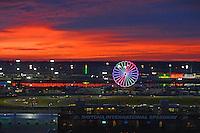 28-31 January, 2016, Daytona Beach, Florida USA<br /> Cars race through the infield as the sun rises.<br /> ©2016, F. Peirce Williams